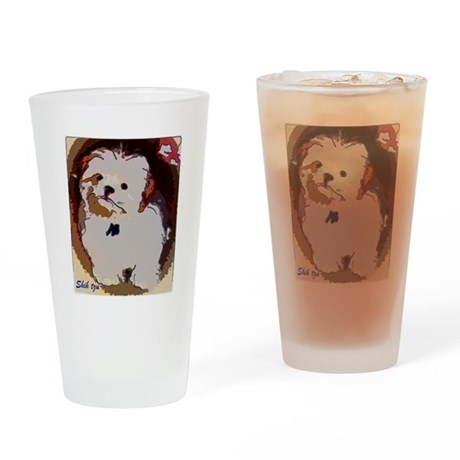 Shihtzu puppy Drinking Glass