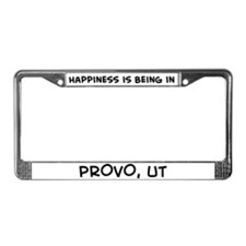 Happiness is Provo License Plate Frame