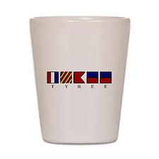 Nautical Tybee Island Shot Glass