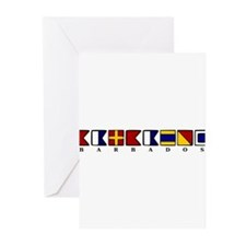 Nautical Barbados Greeting Cards (Pk of 20)