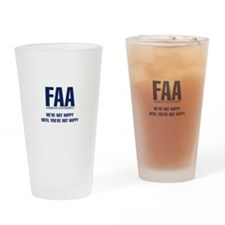 FAA - Mission Statement Drinking Glass