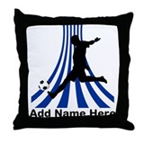 Personalized name soccer gift Throw Pillow