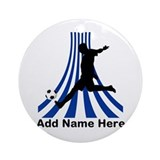 Personalized name soccer gift Ornament (Round)