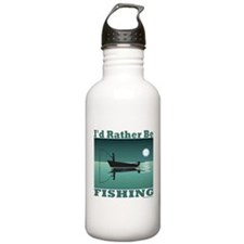 I'd Rather Be Fishing Sports Water Bottle