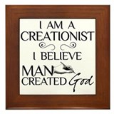 I Am A Creationist Framed Tile