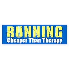 Running Cheaper Than Therapy Bumper Sticker