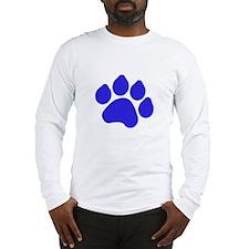 Blue Paw Print Long Sleeve T-Shirt