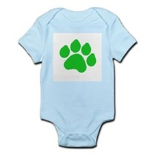 Green Paw Print Infant Bodysuit