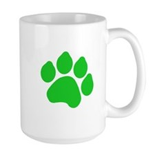 Green Paw Print Mug