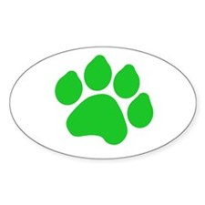 Green Paw Print Decal