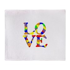LOVE STAINED GLASS WINDOW Throw Blanket