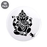 "Ganesha 3.5"" Button 10 Pack"