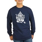 Ganesha Long Sleeve Dark T-Shirt
