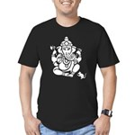 Ganesha Men's Fitted Dark T-Shirt