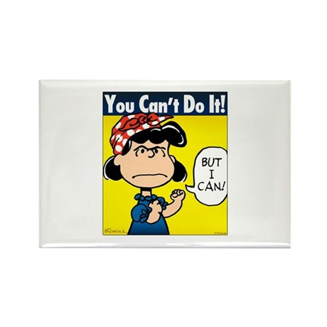 Lucy the Riveter Rectangle Magnet