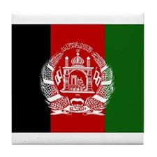 Afghanistan Flag Tile Coaster