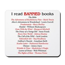 Unique Ban books Mousepad