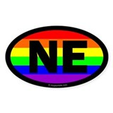 Nebraska Gay Pride Euro Decal