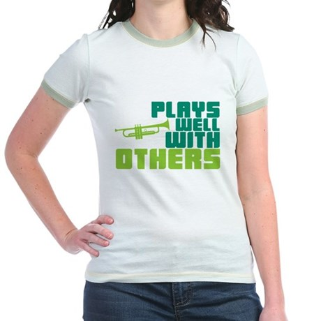Plays Well with Others Jr. Ringer T-Shirt