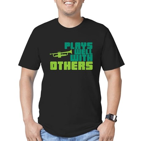 Plays Well with Others Men's Fitted T-Shirt (dark)
