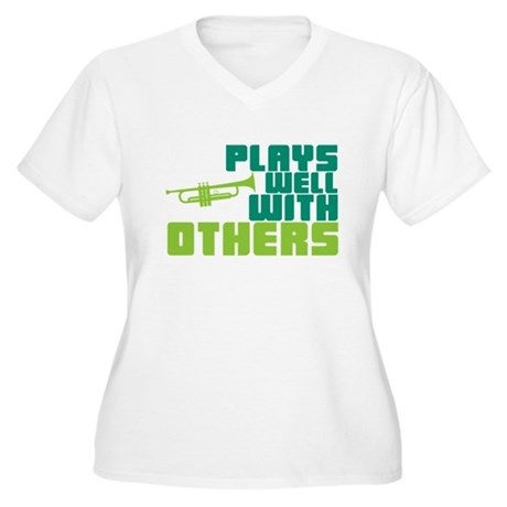Plays Well with Others Women's Plus Size V-Neck T-
