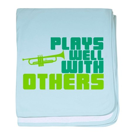 Plays Well with Others baby blanket