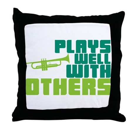 Plays Well with Others Throw Pillow