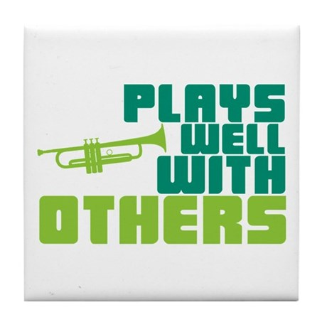 Plays Well with Others Tile Coaster