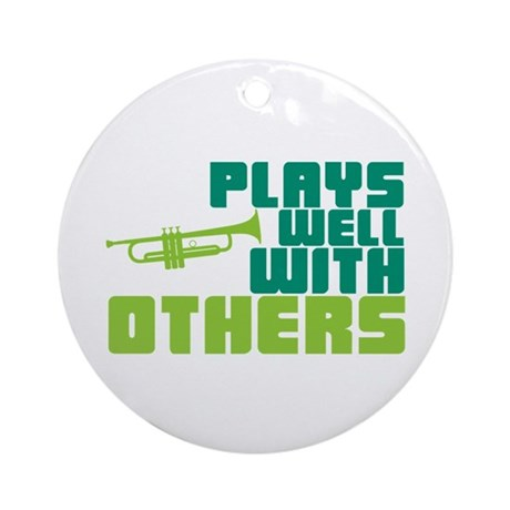 Plays Well with Others Ornament (Round)