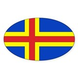 &#197;land Flag Oval Decal
