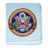 USCG Eagle & Anchors baby blanket