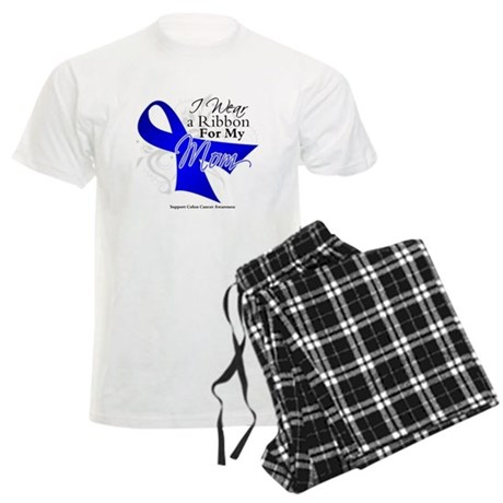 Mom Colon Cancer Men's Light Pajamas