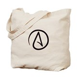 Atheist Symbol Tote Bag