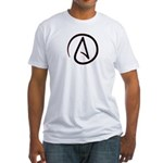 Atheist Symbol Fitted T-Shirt