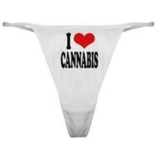 I Love Cannabis Classic Thong