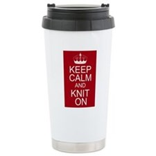 Customisable Keep Calm and Kn Travel Mug