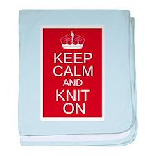 Customisable Keep Calm and Kn baby blanket