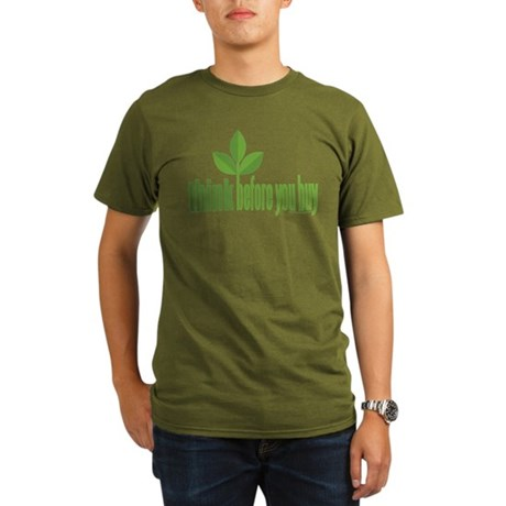 Buy Green Organic Men's T-Shirt (dark)