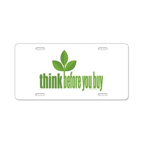 Buy Green Aluminum License Plate