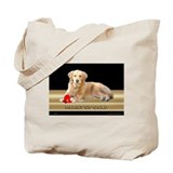 Golden Retriever Tote Bag Heart/Black