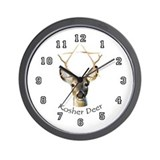Kosher Deer Wall Clock