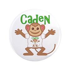 """Little Monkey Caden 3.5"""" Button"""