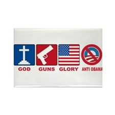 Anti Obama 2012 Rectangle Magnet
