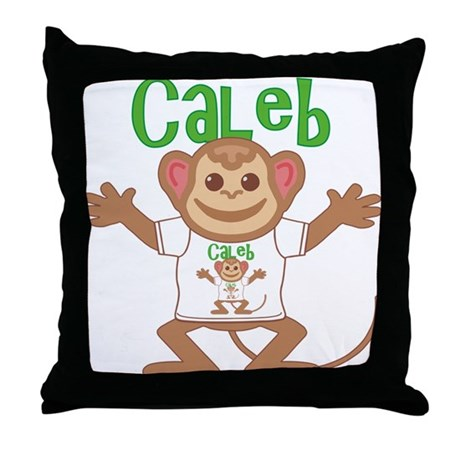 Little Monkey Caleb Throw Pillow