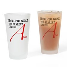 Scarlet Letter Atheist Drinking Glass
