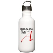 Scarlet Letter Atheist Sports Water Bottle