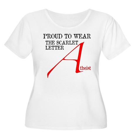 Scarlet Letter Atheist Women's Plus Size Scoop Nec