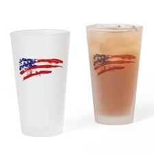 America Flag Drinking Glass