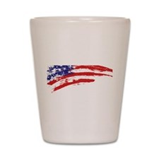 America Flag Shot Glass