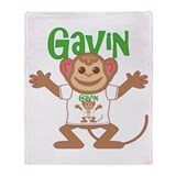 Little Monkey Gavin Throw Blanket